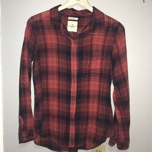 American Eagle Featherweight Plaid w Roll sleeves